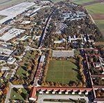 Luftbildaufnahme Fliegerhorstgelände Fürstenfeldbruck