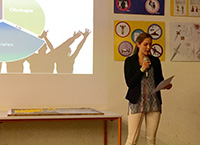Viscardi Schülerin präsentiert P-Seminar Ergebnis