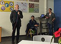 2. Bürgermeister Raff bei seiner Rede vor den Schülern des P-Seminars Viscard Gymnasium FFB