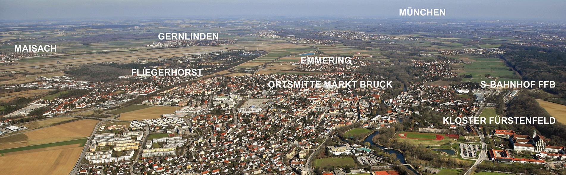 Fliegerhorst Fürstenfeldbruck Umland