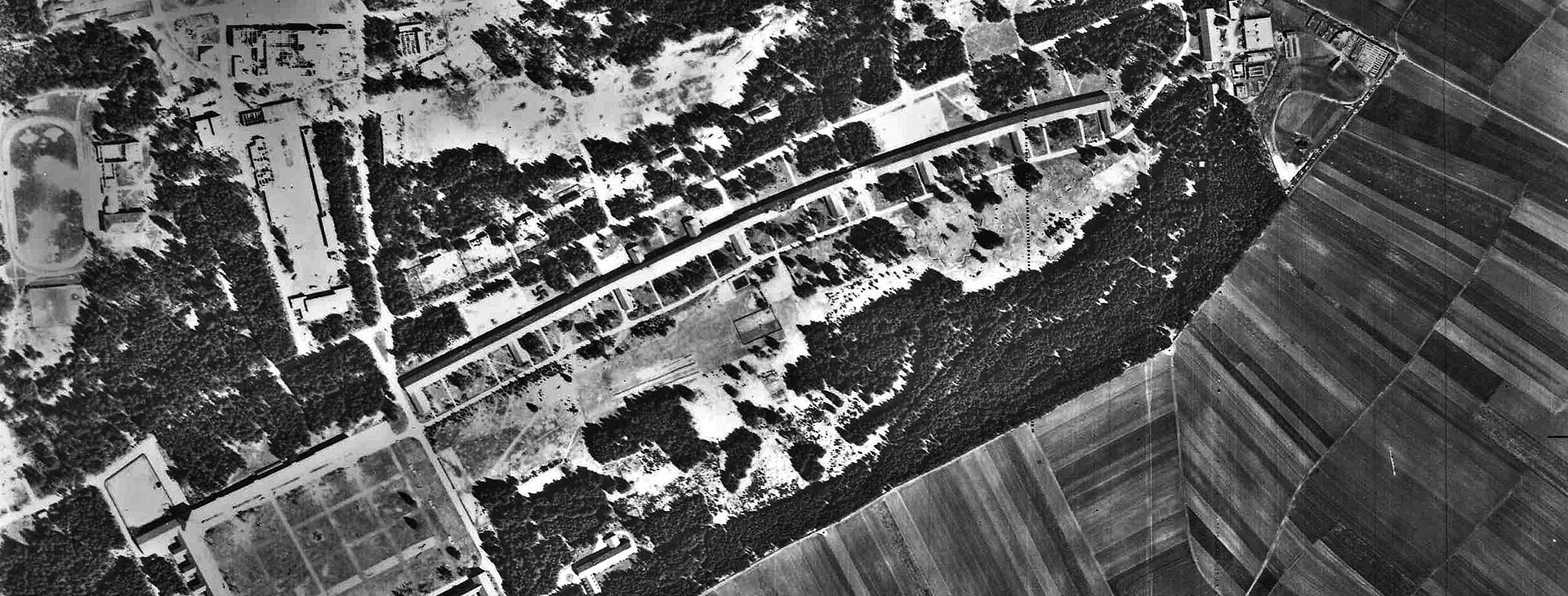 Fursty historische US Luftbildaufnahme
