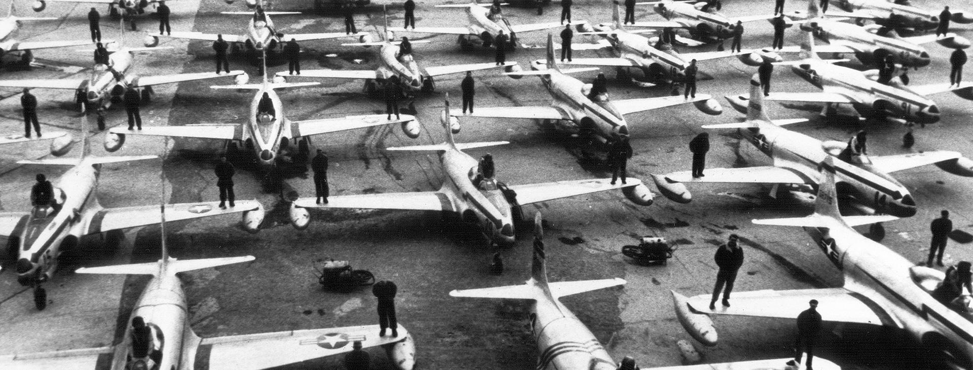 US Air Force Flugzeuge 1950 Fliegerhrost Fürstenfeldbruck