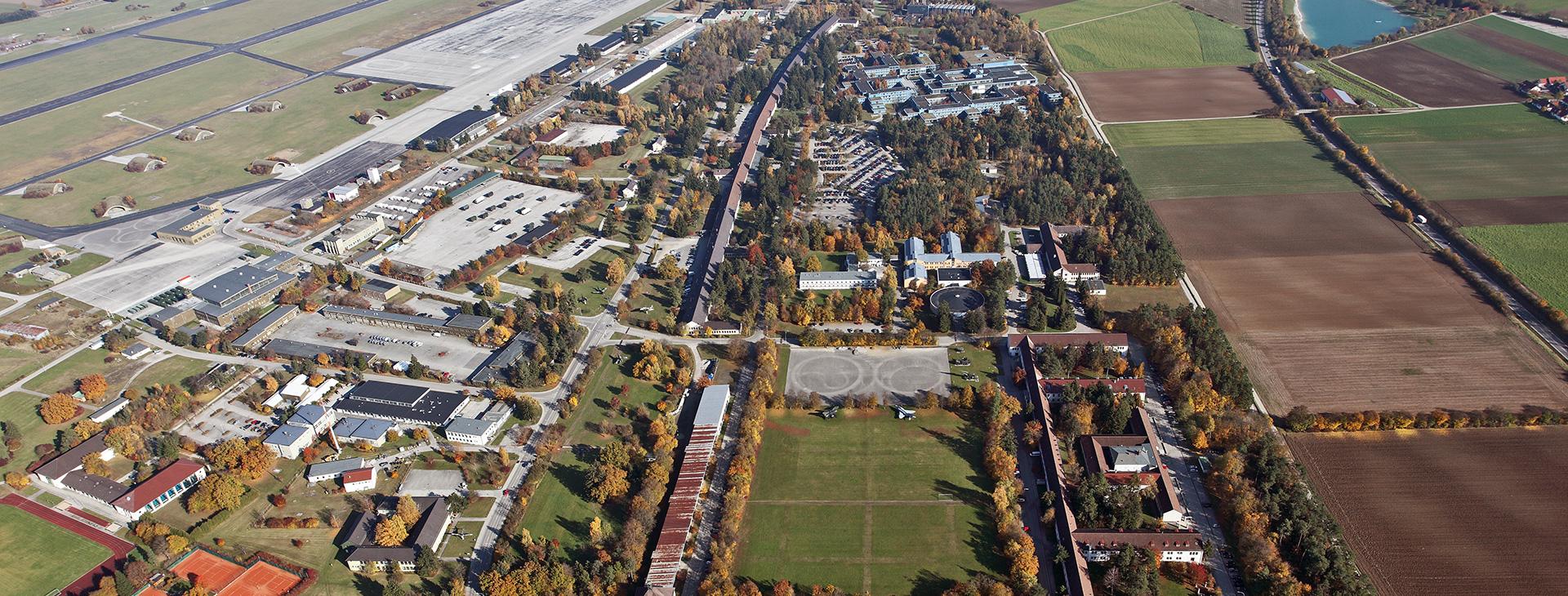 Luftaufnahme Ausschnitt Fliegerhorst FFB