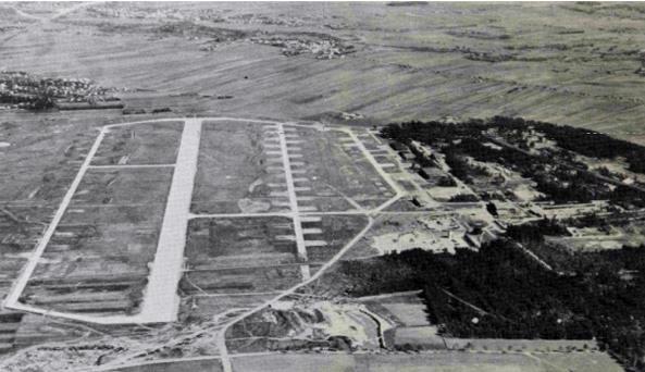 Fertigstellung der Startbahn im Jahr 1943