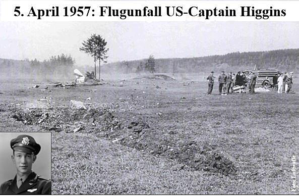 1957 Flugunfall Captain Higgins