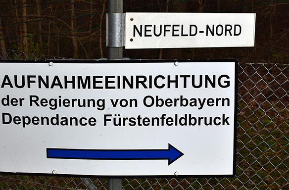 Erstaufnahmeeinrichtung für Asylsuchende im Fliegerhorst
