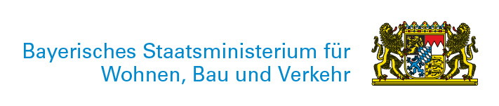 Logo Bayerisches Staatsministerium für Wohnen Bauen Verkehr